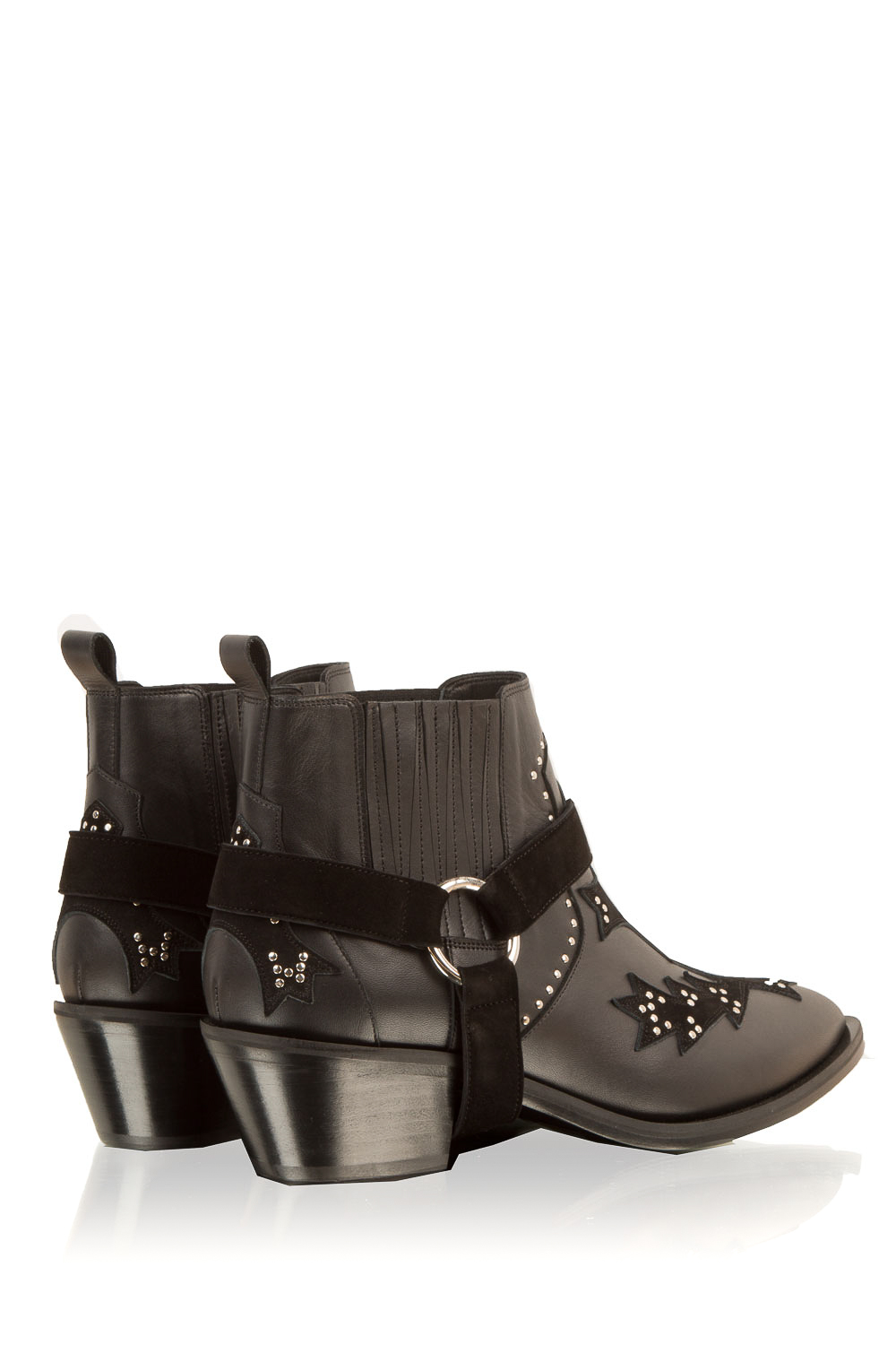 Boots for Women, Booties On Sale, Black, Leather, 2017, 5.5 7.5 Morobé