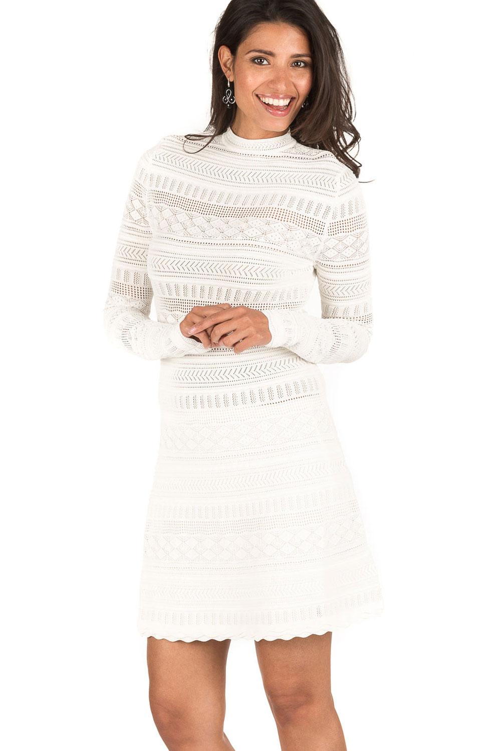Top Kanten jurk Jyll | wit | NIKKIE | Little Soho QC73