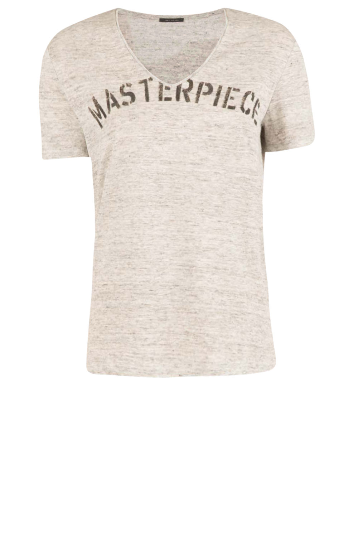 IKKS   Linen T-shirt V-hals Masterpiece   grey