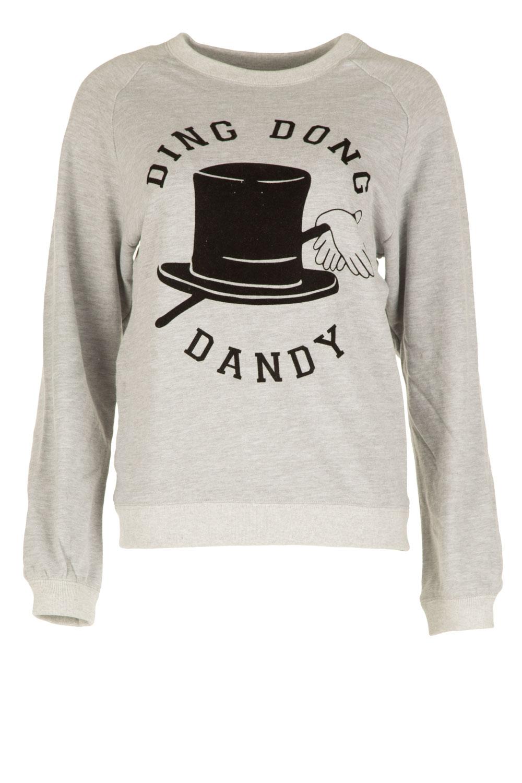 Zoe Karssen | Sweater Ding Dong Dandy | grijs