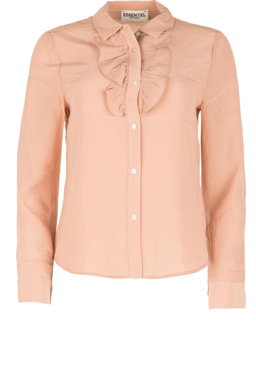 roze zijden blouse