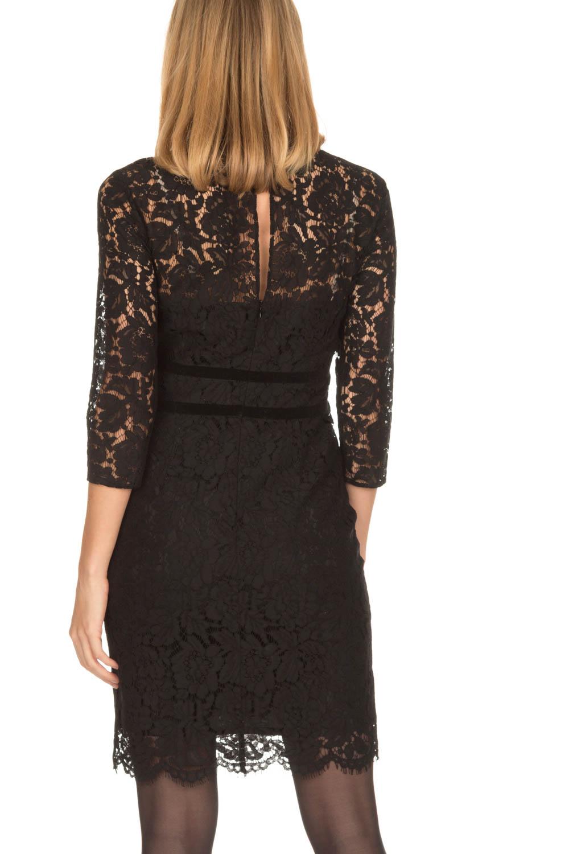 Super Kanten jurk Feline | zwart | Set | Little Soho @UD47