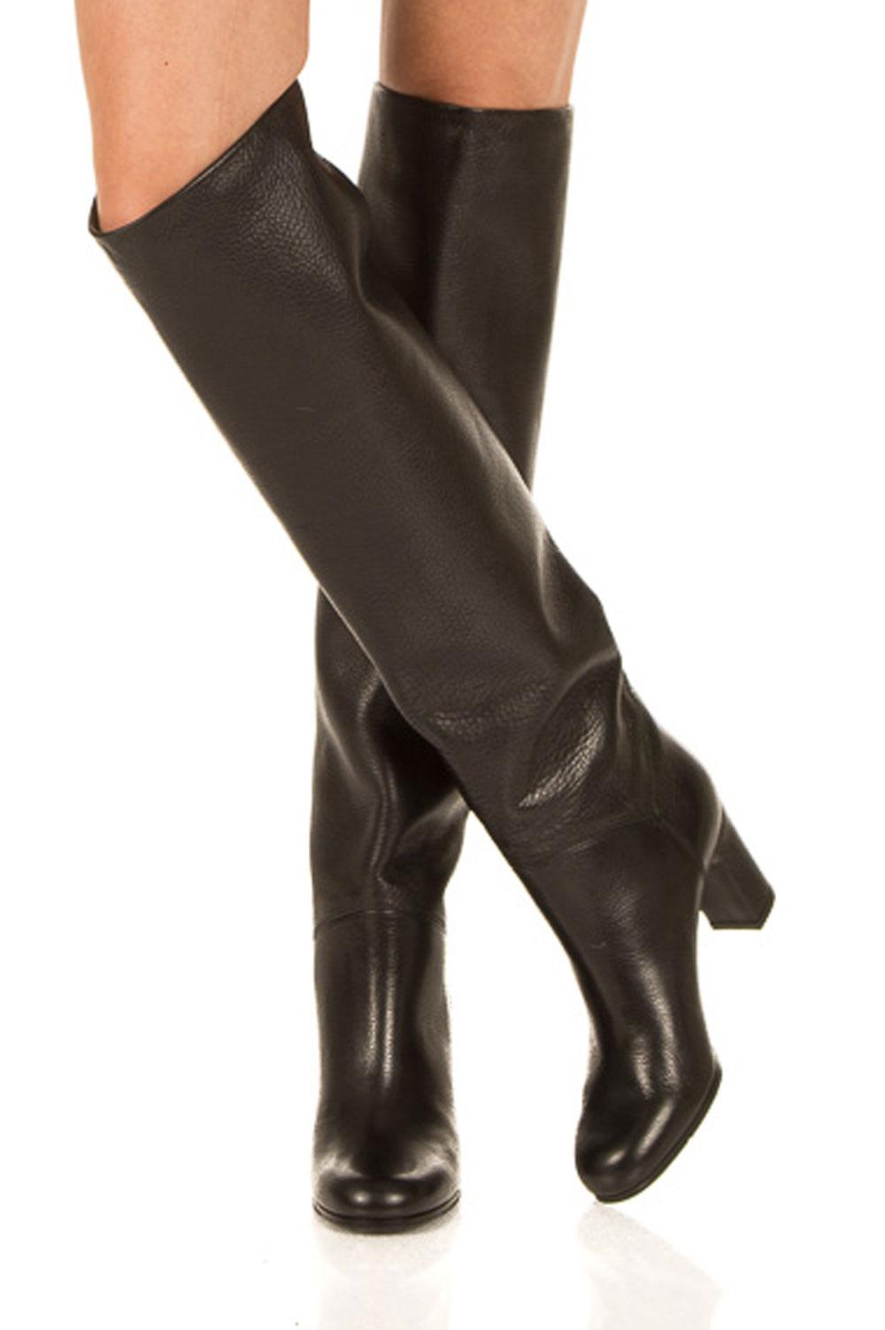 1a49e2fa6 Leather over-the-knee boots Noor | black... | L'Autre Chose | Little ...