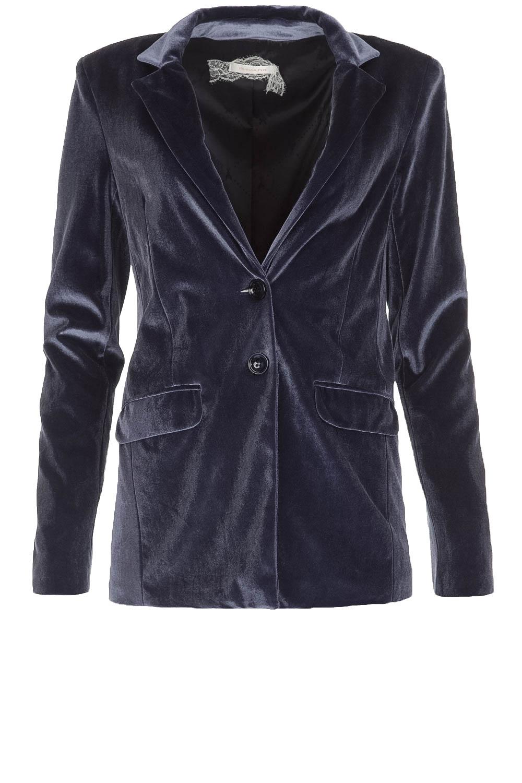 20a1925296 Velvet blazer Giacca | blue... | Patrizia Pepe | Little Soho