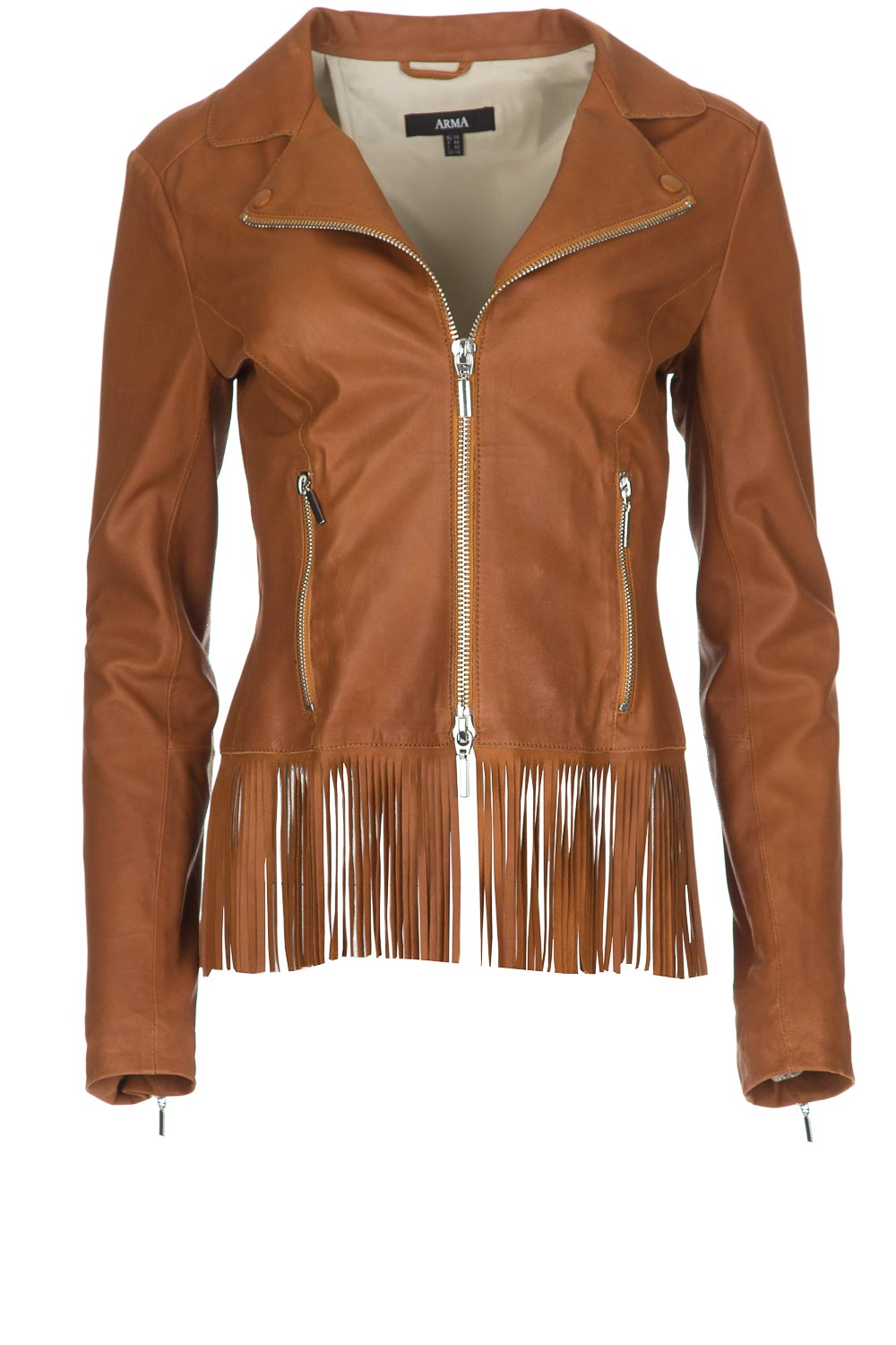 230dd7689a3f 100% goat leather jacket with fringes Galicie