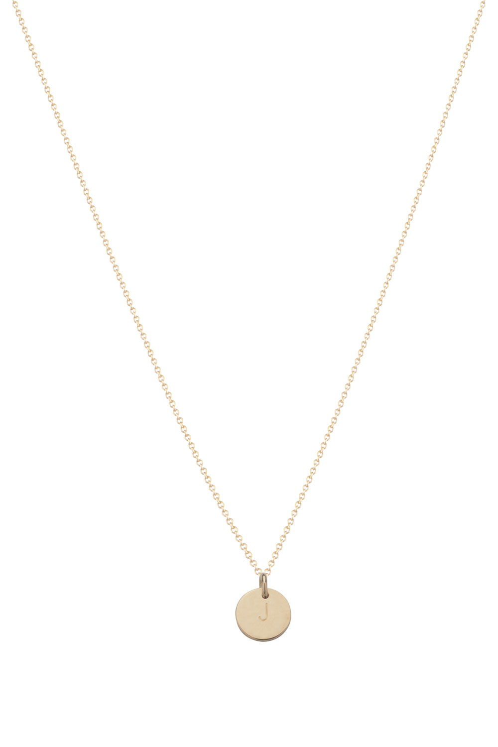 14kt Golden Necklace Coin 40 Cm Gold