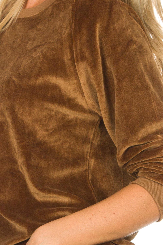 Fluwelen trui Isacboy   bruin   American Vintage   Little Soho