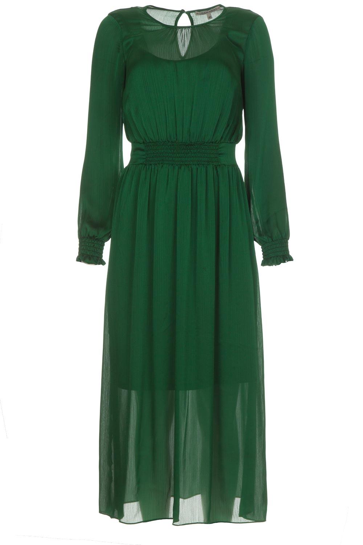 Legergroene Maxi Jurk.Maxi Dress Trelew Green Silvian Heach Little Soho