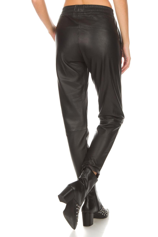 Leren broek Moji | zwart