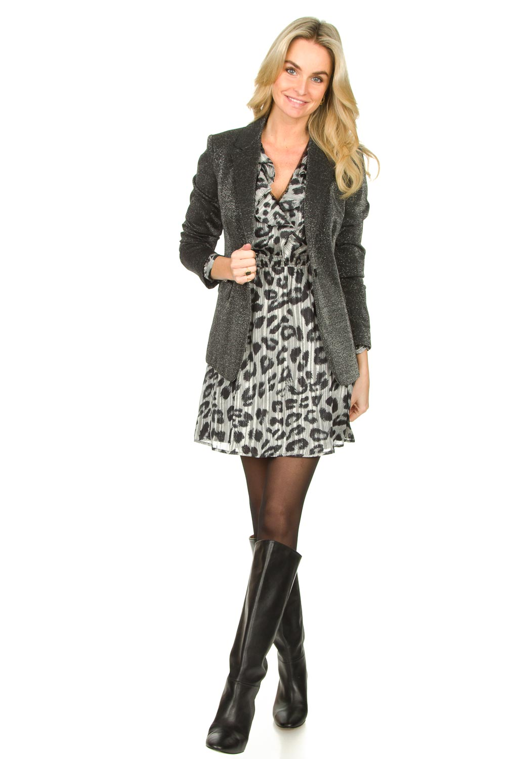 Look Leopard printed dress Gianna