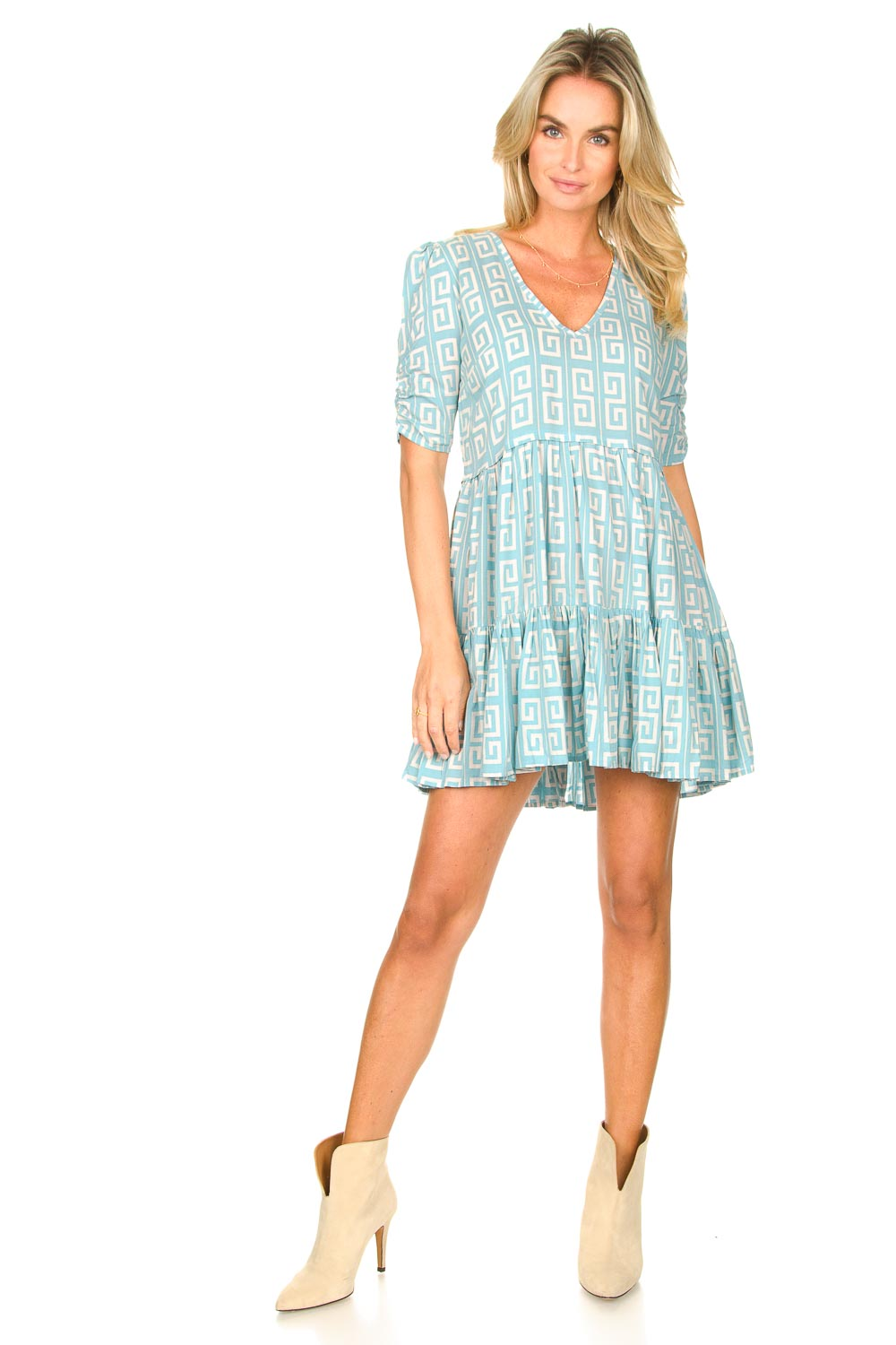 Look Dress with graphic print Kelly