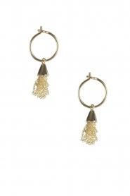 Betty Bogaers | 14k verguld gouden oorbellen Little Floss | goud  | Afbeelding 2