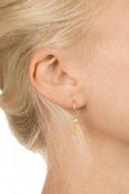 Betty Bogaers | 14k verguld gouden oorbellen Little Floss | goud  | Afbeelding 3