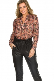 Munthe |  Floral top Noella | pink  | Picture 2