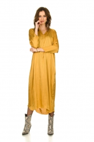 Rabens Saloner |  Wide maxi dress Bole | gold  | Picture 2