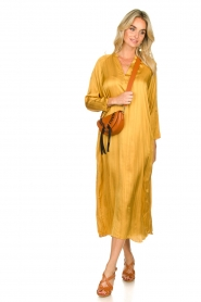 Rabens Saloner |  Wide maxi dress Bole | gold  | Picture 3