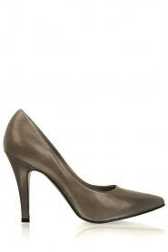 Noe | Leather pumps Nicole | grey