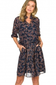 Munthe |  Floral dress Nirvana | blue  | Picture 4