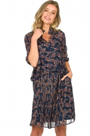 Munthe |  Floral dress Nirvana | blue  | Picture 2
