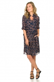 Munthe |  Floral dress Nirvana | blue  | Picture 3