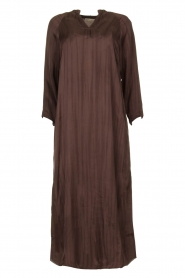Rabens Saloner |  Wide maxi dress Bole | dark brown  | Picture 1