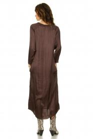 Rabens Saloner |  Wide maxi dress Bole | dark brown  | Picture 5