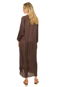 Rabens Saloner |  Wide maxi dress Bole | dark brown  | Picture 2