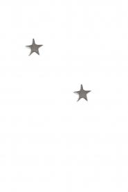 Betty Bogaers | 925 sterling zilveren oorbellen Asymmetric Star | zilver  | Afbeelding 2