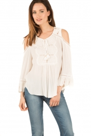 Hale Bob | Off-shoulder top Frankie | wit  | Afbeelding 2