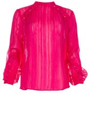 Munthe | Top met glitterdetails Naked | roze  | Afbeelding 1