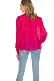 Munthe | Top met glitterdetails Naked | roze  | Afbeelding 7