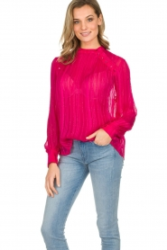 Munthe | Top met glitterdetails Naked | roze  | Afbeelding 4