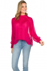 Munthe | Top met glitterdetails Naked | roze  | Afbeelding 5