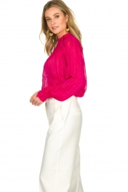 Munthe |  Top with glitter details Naked | pink  | Picture 4