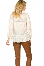 Rabens Saloner |  Lace blouse Cia | white  | Picture 5