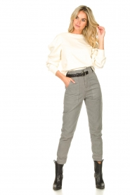 Magali Pascal |  Paperbag jeans Sisley | grey  | Picture 3