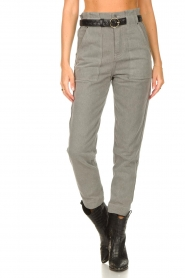 Magali Pascal |  Paperbag jeans Sisley | grey  | Picture 6
