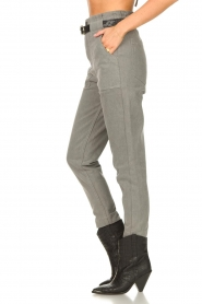 Magali Pascal |  Paperbag jeans Sisley | grey  | Picture 7