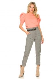 Magali Pascal |  Paperbag jeans Sisley | grey  | Picture 4