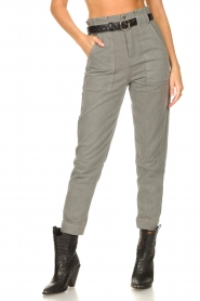Magali Pascal |  Paperbag jeans Sisley | grey  | Picture 5