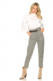Magali Pascal |  Paperbag jeans Sisley | grey  | Picture 2