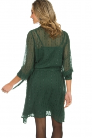 Munthe |  Dress with glitter stripes Net | green  | Picture 6