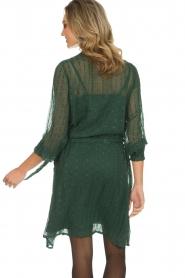 Munthe | Jurk met glitterstreepjes Net | groen  | Afbeelding 6