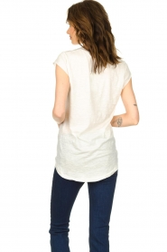 Rabens Saloner |  T-shirt with stars print Elixia | white  | Picture 4