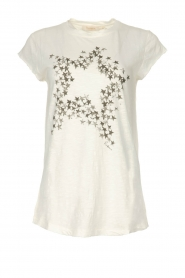 Rabens Saloner |  T-shirt with stars print Elixia | white
