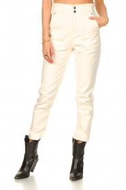 Magali Pascal |  Paperbag jeans Sisley | ecru  | Picture 5