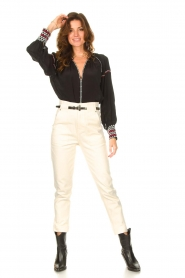 Magali Pascal |  Paperbag jeans Sisley | ecru  | Picture 2