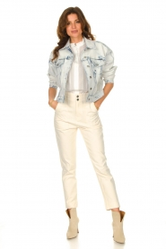 Magali Pascal |  Paperbag jeans Sisley | ecru  | Picture 4