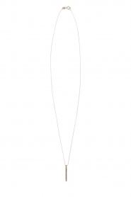Touchable | Gouden halsketting Tube | witgoud  | Afbeelding 2