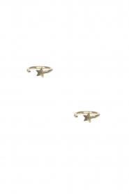 Betty Bogaers | 14k verguld gouden oorbellen Ring Star | goud  | Afbeelding 1